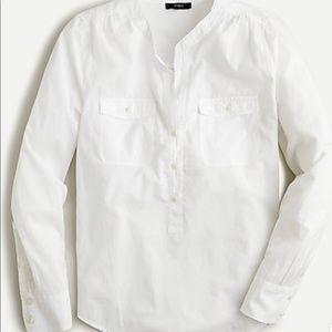 J. Crew Women's Garment dyes Popover blouse NWT